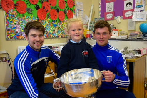 Ross, Aoife and Damien with the Mick Duffy Cup