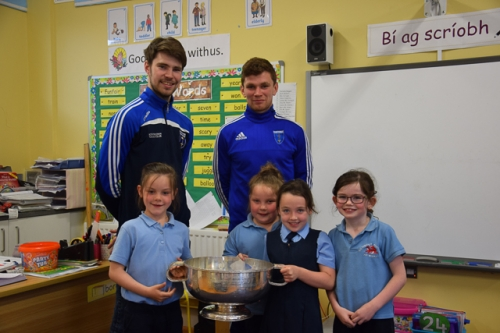 Emilie -Jane, Sinead, Cassie and Aine,1st Class with the Mick Duffy Cup