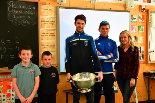 Cathal, Charlie with Ross, Damien and Ms Stirrat