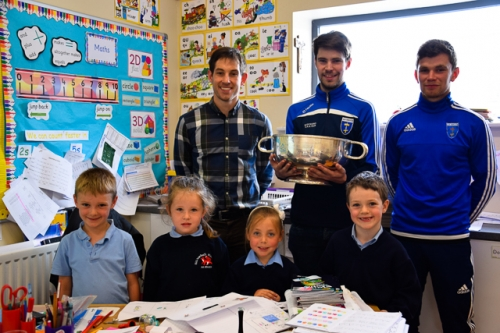 James Turley, Ross McKenna and Damien McArdle, Scotstown GFC with Dáithí-Óg, Mary Rose, Kayla & Conor