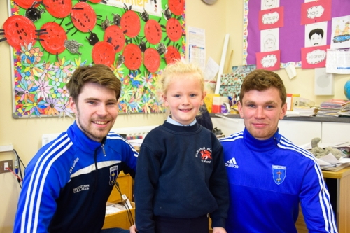 Ross McKenna, Aoife McArdle with her brother, Damien,  Scotstown GFC