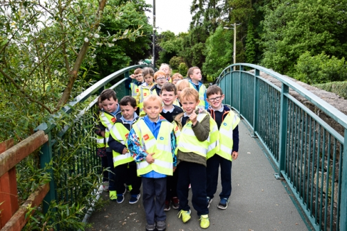 Junior Infants at the bridge