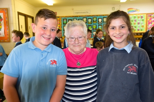 Nathan and Chloe 5th class with Pat Smyth