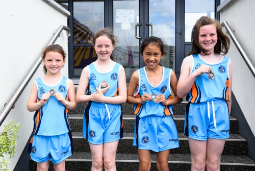 Anna, Kate, LilleMai and Leah, 3rd place in 3rd/4th Relay