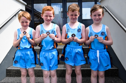 Dáire, Darragh, Jack and Senan, 3rd place in 1st/2nd Relay