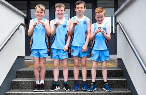 Mark, Daithi, Donnacha and Nathan, 3rd place in 3rd/4th Relay