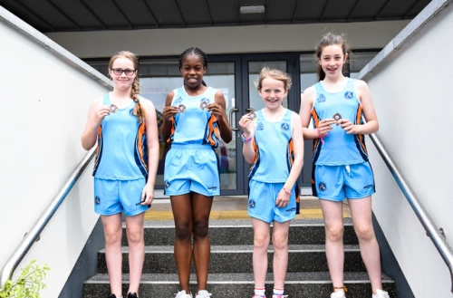 Éabha, Bernice, Katie and Aisling, 3rd in 5th/6th Relay