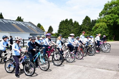 Cycling to School-National Bike Week/Active School Week June 2017