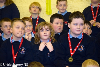 Prizewinners in Urbleshanny NS December 2019